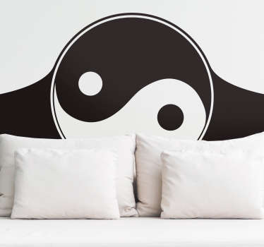 Pay tribute to the yin and yang nature of your relationship with this fantastic Chinese inspired headboard sticker! Discounts available.