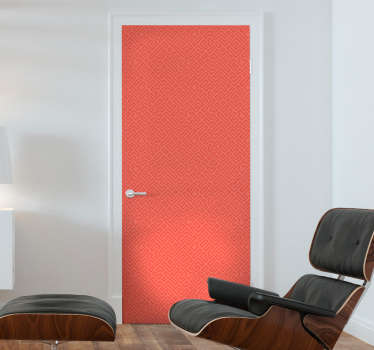 Beautiful coral colour door sticker to decorate any door surface. It is available in any required size. Easy to apply and self adhesive.