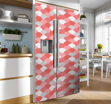 Coral scales fridge wrap sticker  to decorate a fridge. It is available in any required size. Easy to apply and self adhesive.