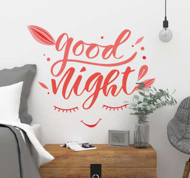 Good Night Wall Text Sticker