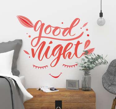 Good Night Wall Text Sticker