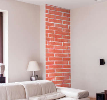 An original adhesive brick sheet wall sticker. Nice for a living room and bedroom decoration. It is available in any required size.