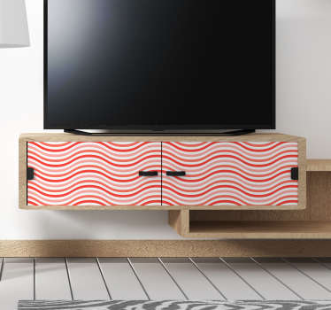 Sticker Meuble Ondes Coral