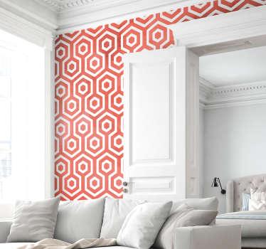 Sticker Forme Texture Geométrique Coral