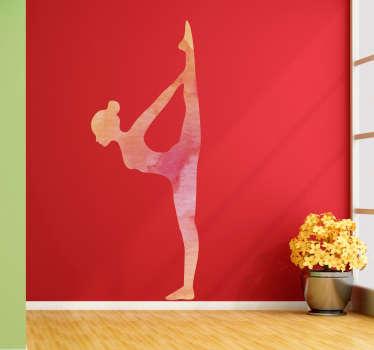 Wandtattoo Yoga Frau Silhouette