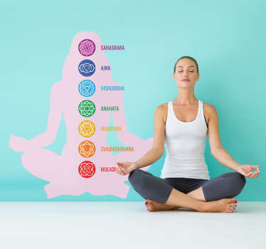 Chakras sport wall sticker to decorate any flat surface of choice. Easy to apply, self adhesive and available in different sizes.