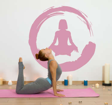 Sticker Sport Enso Yoga