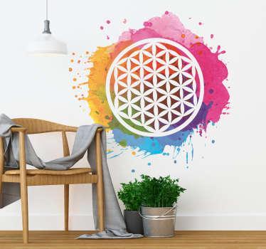 Sticker Original Fleur de la Vie Yoga
