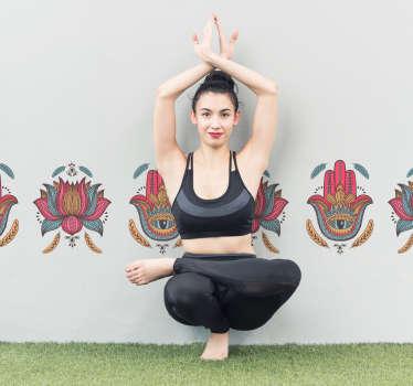 Wandtattoo Ornament Yoga Ornament Wandbordüre