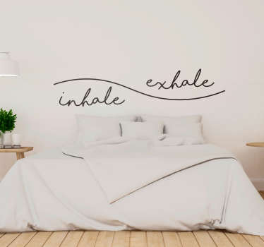 Inhale Exhale Headboard Sticker