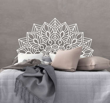 An ornamental headboard wall decal with the design of mandala pattern . Available in different colours option and sizes.
