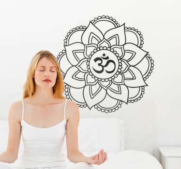 Wall sticker mandala yoga shala will be the perfect decoration for your home or office walls. Transmit calm to your environment and people present.