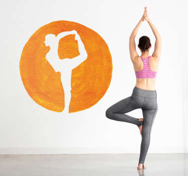 Vinilo pared Silueta postura yoga