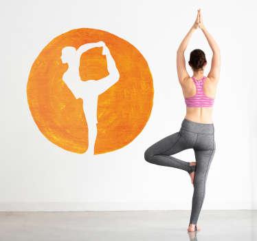 Sticker Maison Silhouette Posture Yoga