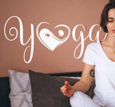 Yoga Yin Yang Wall Sticker