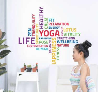 Sticker Sport Yoga Concept