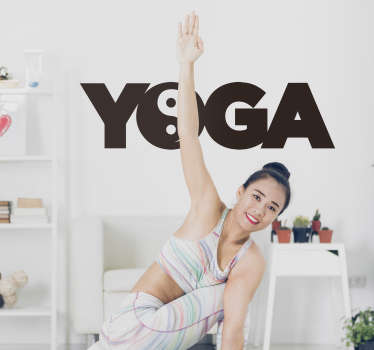 Yoga Word Wall Text Sticker