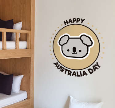 Happy Australia Day Home Wall Sticker