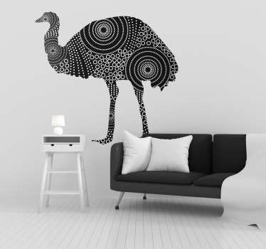 Pay tribute to the might of the Emu with this fantastic wall art sticker, depicting the glorious animal! Extremely long-lasting material.