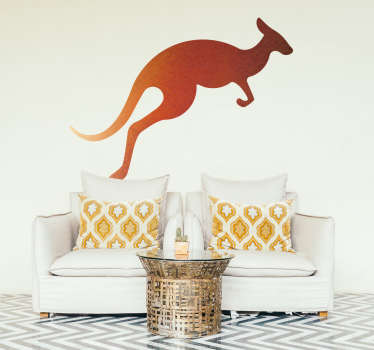 Watercolour Kangaroo Animal Wall Sticker