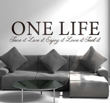 slaapkamer muursticker one life