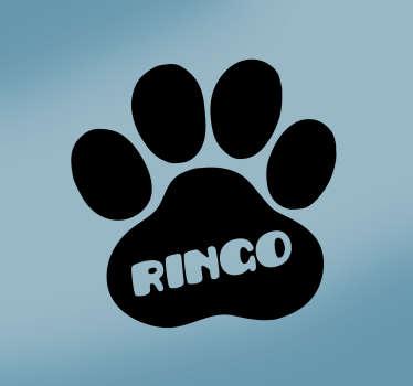 Sticker Maison Patte de chien personnalisée