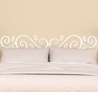 Vinilo cabecero cama modernista