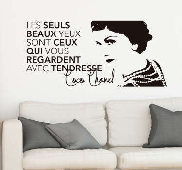 Sticker Mural Citation Coco Chanel