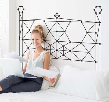 Decorative lines wall sticker to use for bedroom space and living room.It is made of connecting line patterns. Available in different colours options.