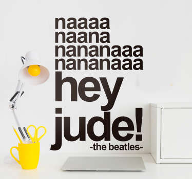 Sticker Mural Paroles Hey Jude Beatles