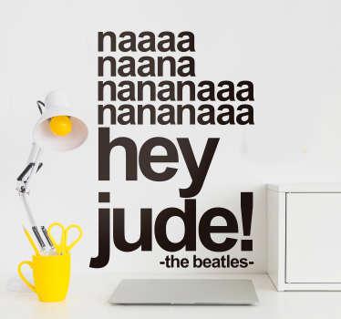 Sticker Maison Paroles Hey Jude Beatles