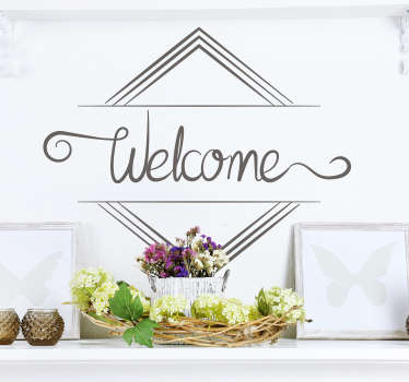 Minimalist Welcome Text Sticker