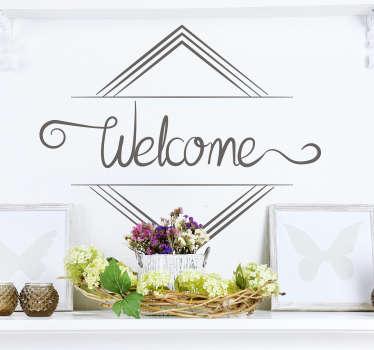Vinilo frase estilo minimalista welcome