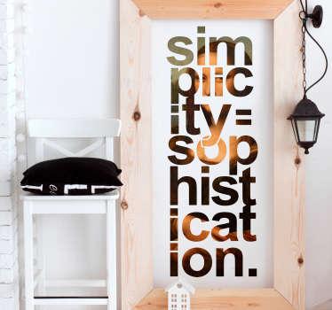Vinilo frase Mona Lisa pintura minimalista