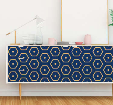 Decorative geometric minimalist pattern furniture sticker. Easy to apply and available in any required dimension. Self adhesive.