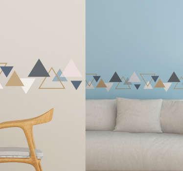Cenefa adhesiva triángulos minimalistas