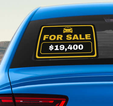 Draw attention to the fact that you are now selling your car with this superbly useful car window sticker! Easy to apply.