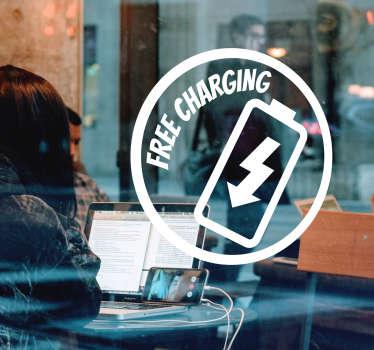 Free Charging Shop Window Sticker