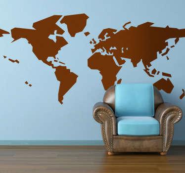 Wallstickers Verdenskort abstrakt