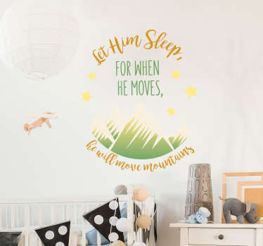 Add an inspiring quote to the wall of your child´s bedroom with this fantastic wall text and art sticker! Anti-bubble vinyl.