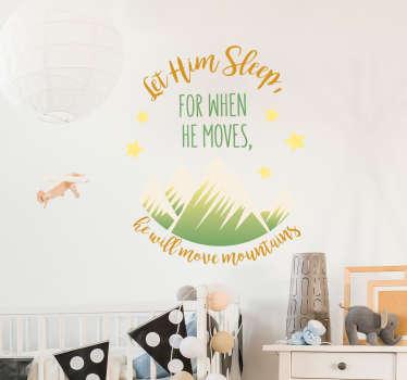 Let him Sleep Wall Bedroom Sticker