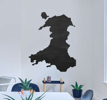 Wales Map Decorative Sticker