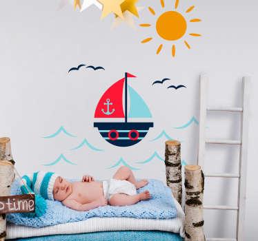Sticker Chambre Enfant Bateau Dessin