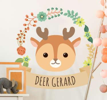 Sticker Illustration Dessin Bébé Cerfs