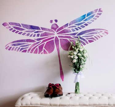 Geometric Dragonfly animal wall sticker