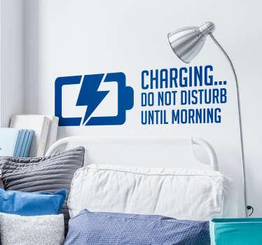 Charging do not Disturb Headboard Sticker