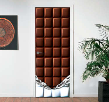 Add some chocolate themed decor to your home thanks to this fantastic door sticker, allowing you to turn your door into a chocolate bar!