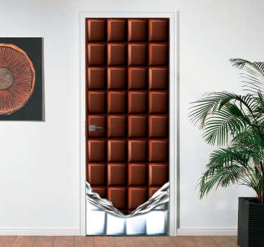 Vinilo para puerta barra de chocolate