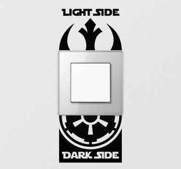 Add some Star Wars themed home decor thanks to this fantastic light switch sticker depicting the chasm between dark side and light side!