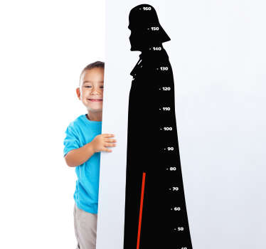 Darth Vader Height Chart Wall Sticker